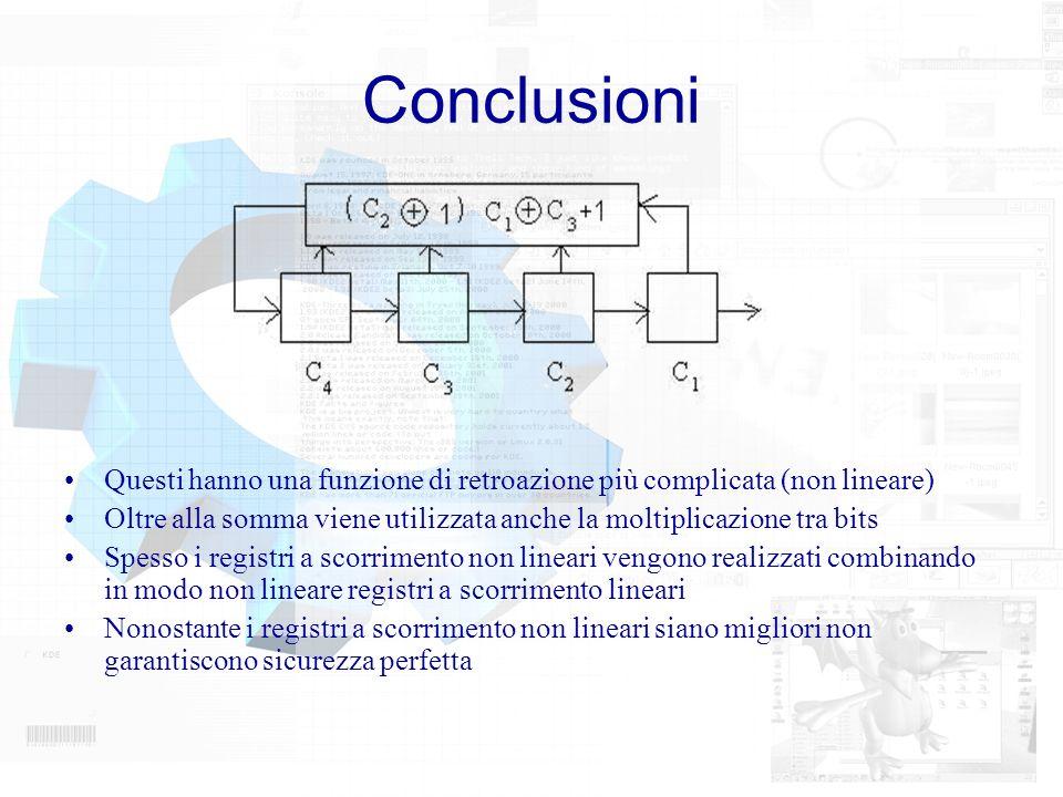 Conclusioni Questi hanno una funzione di retroazione più complicata (non lineare)