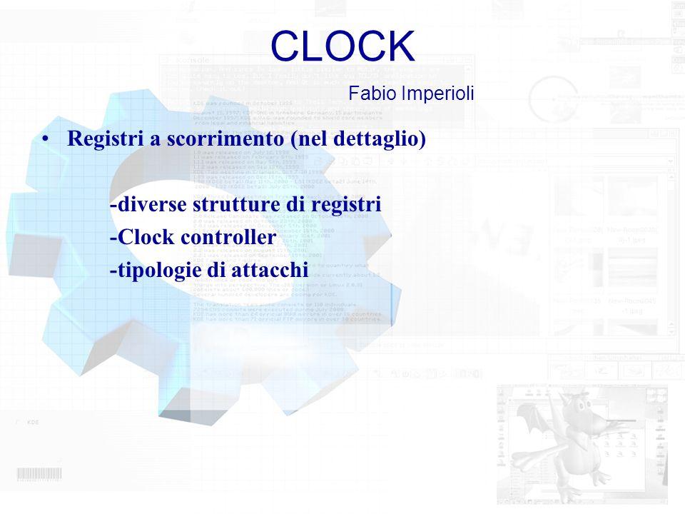 CLOCK Fabio Imperioli Registri a scorrimento (nel dettaglio)