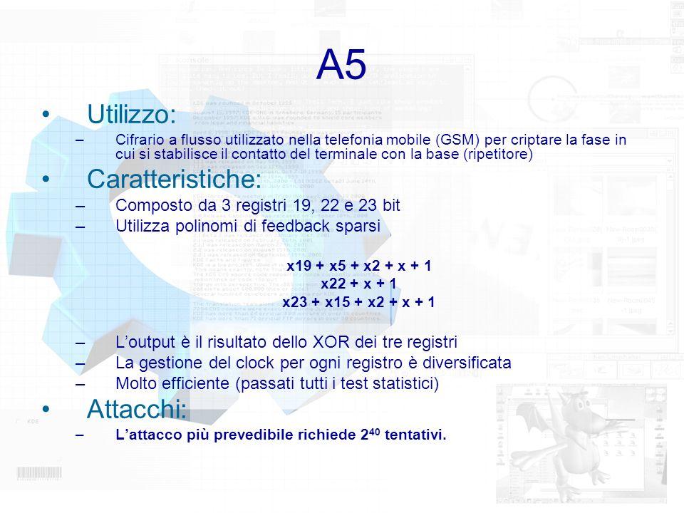 A5 Utilizzo: Caratteristiche: Attacchi: