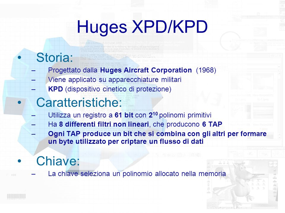 Huges XPD/KPD Storia: Caratteristiche: Chiave: