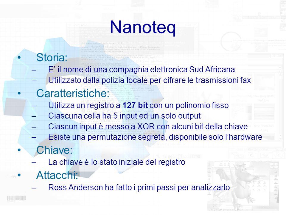 Nanoteq Storia: Caratteristiche: Chiave: Attacchi: