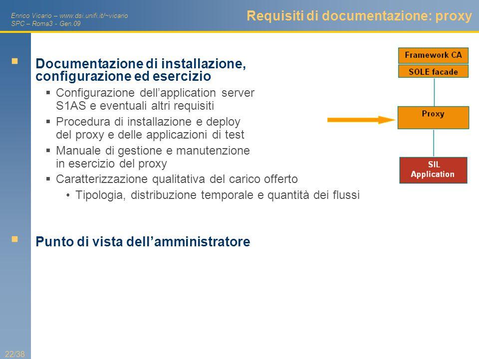 Requisiti di documentazione: proxy