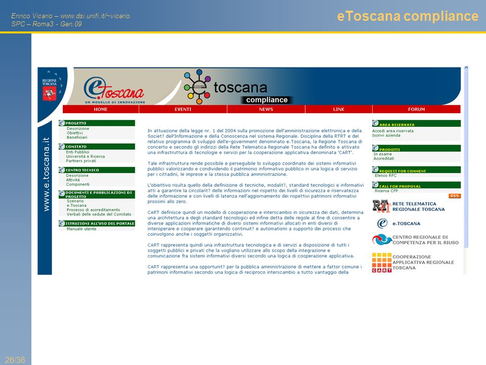 eToscana compliance