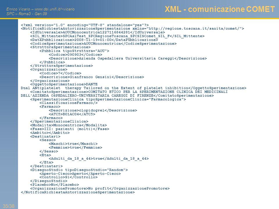 XML - comunicazione COMET