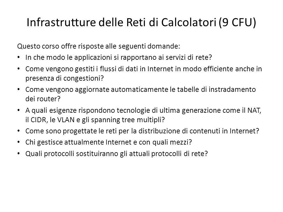 Infrastrutture delle Reti di Calcolatori (9 CFU)