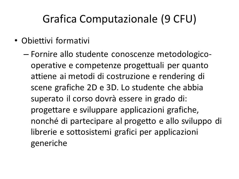 Grafica Computazionale (9 CFU)