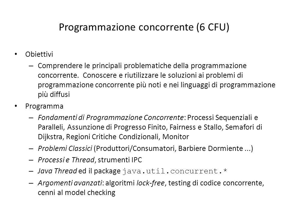 Programmazione concorrente (6 CFU)