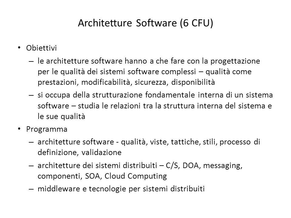 Architetture Software (6 CFU)
