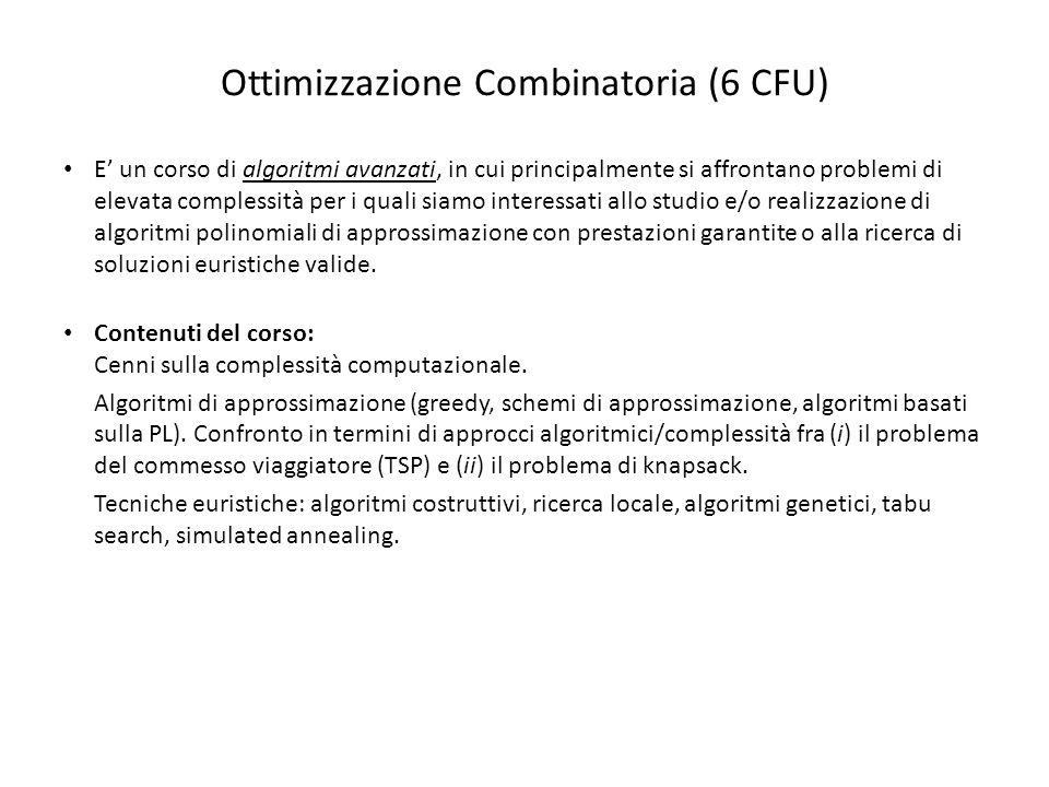 Ottimizzazione Combinatoria (6 CFU)