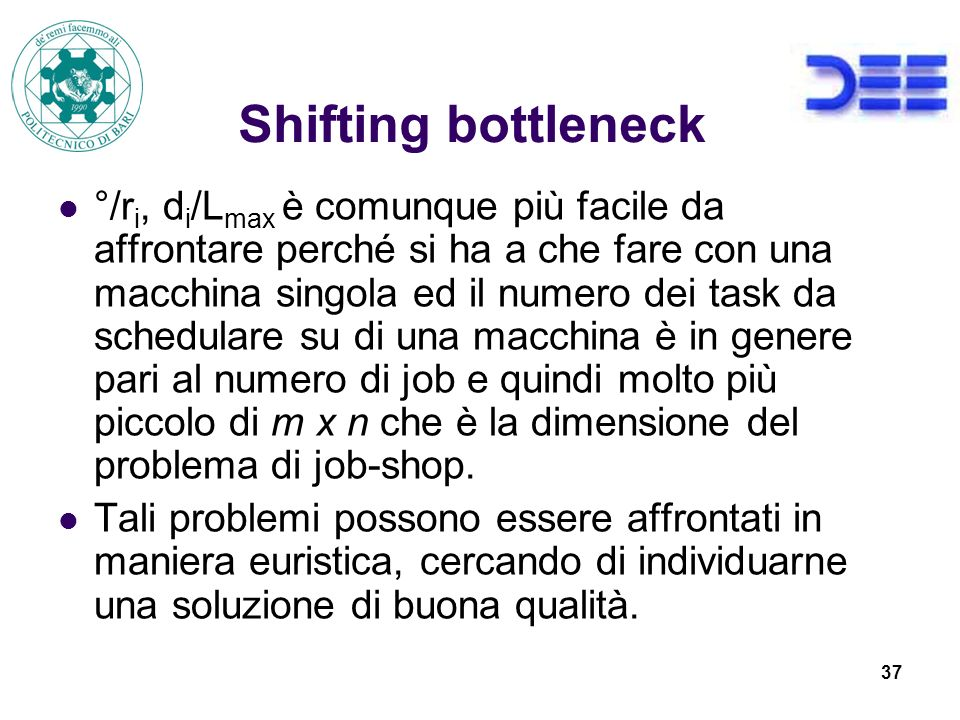 Shifting bottleneck