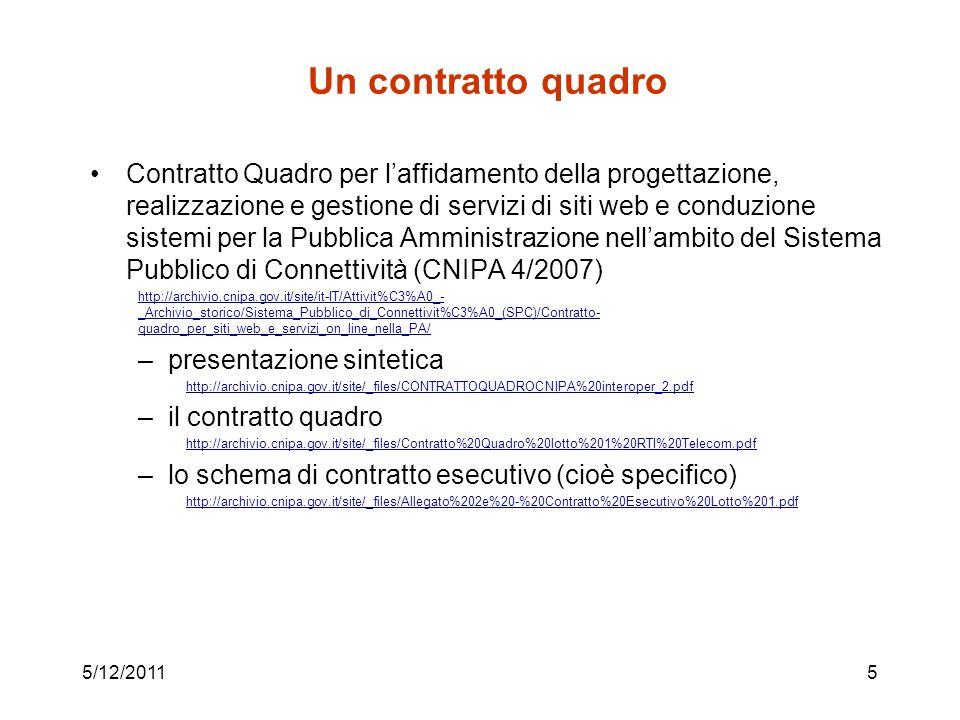 Un contratto quadro
