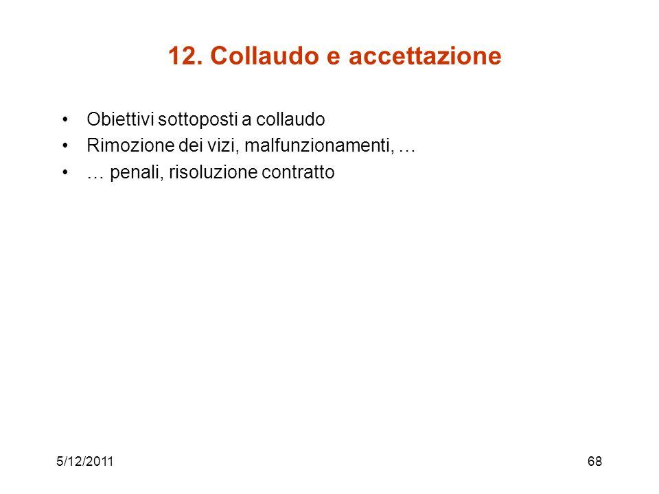 12. Collaudo e accettazione