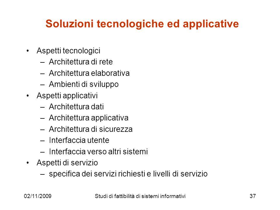 Soluzioni tecnologiche ed applicative