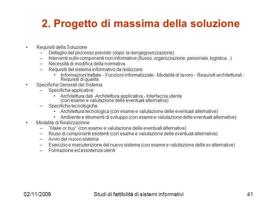 2. Progetto di massima della soluzione