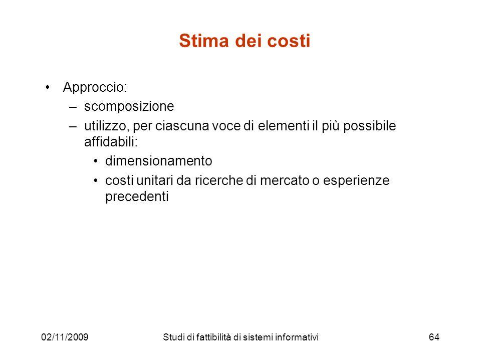 Studi di fattibilità di sistemi informativi