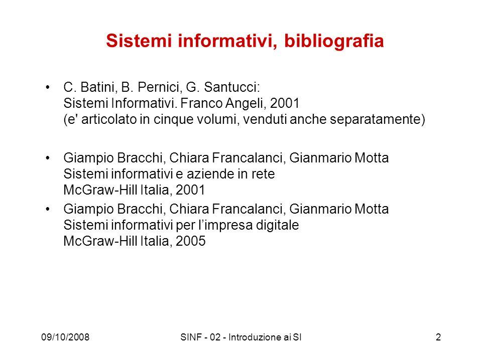 Sistemi informativi, bibliografia