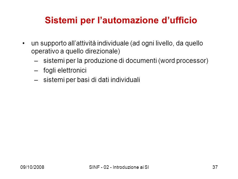 Sistemi per l'automazione d'ufficio