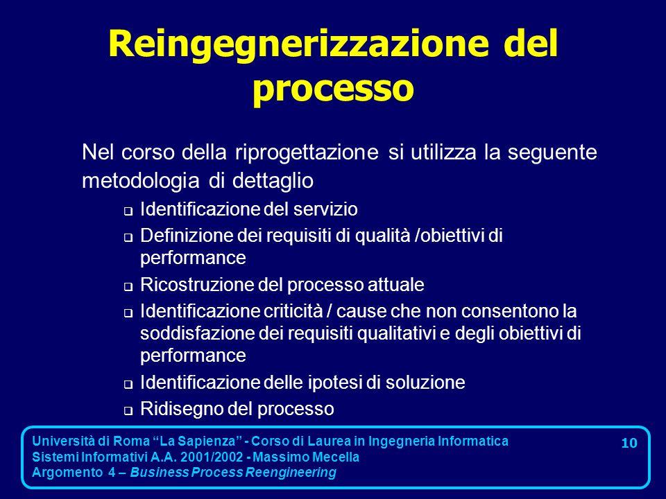 Reingegnerizzazione del processo