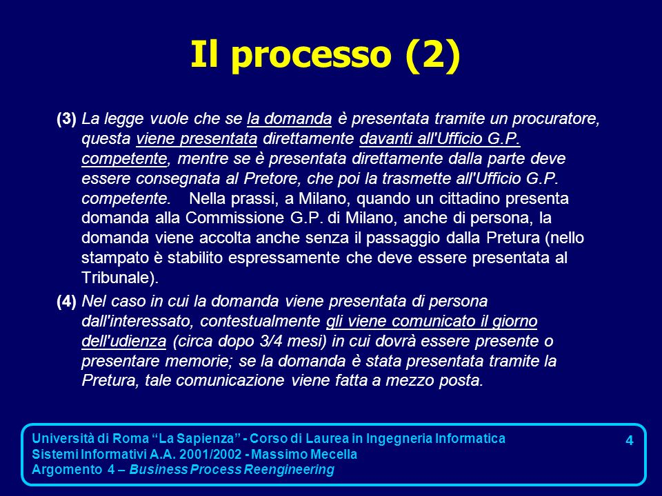 Il processo (2)