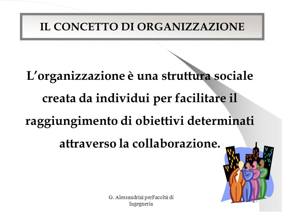 L'organizzazione è una struttura sociale