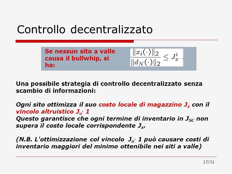Controllo decentralizzato