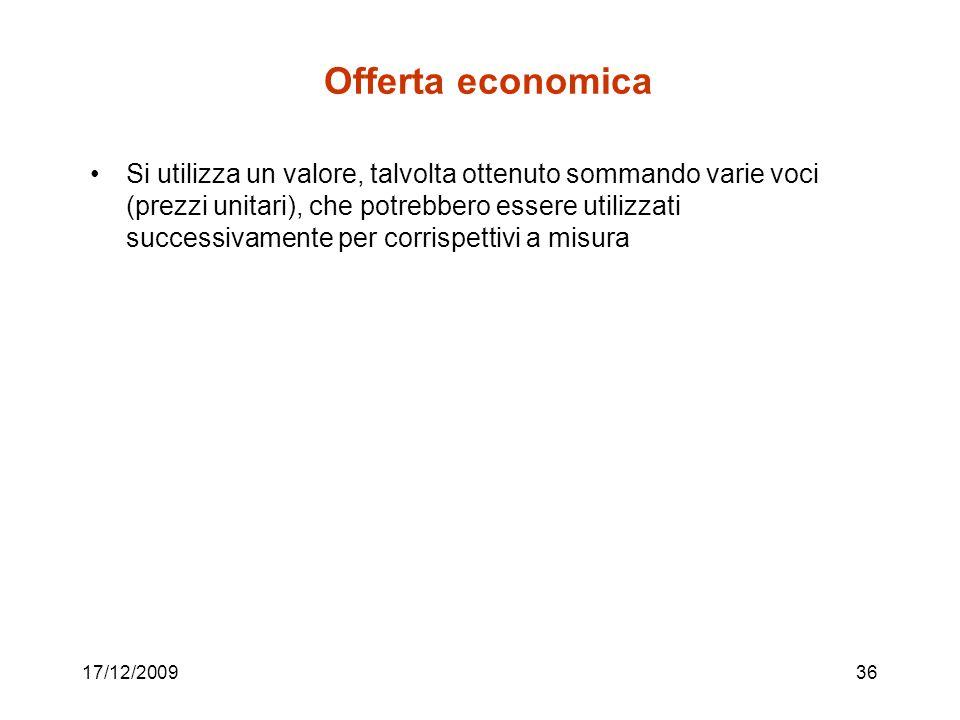 Offerta economica