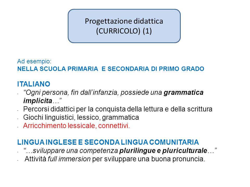 Progettazione didattica (CURRICOLO) (1)