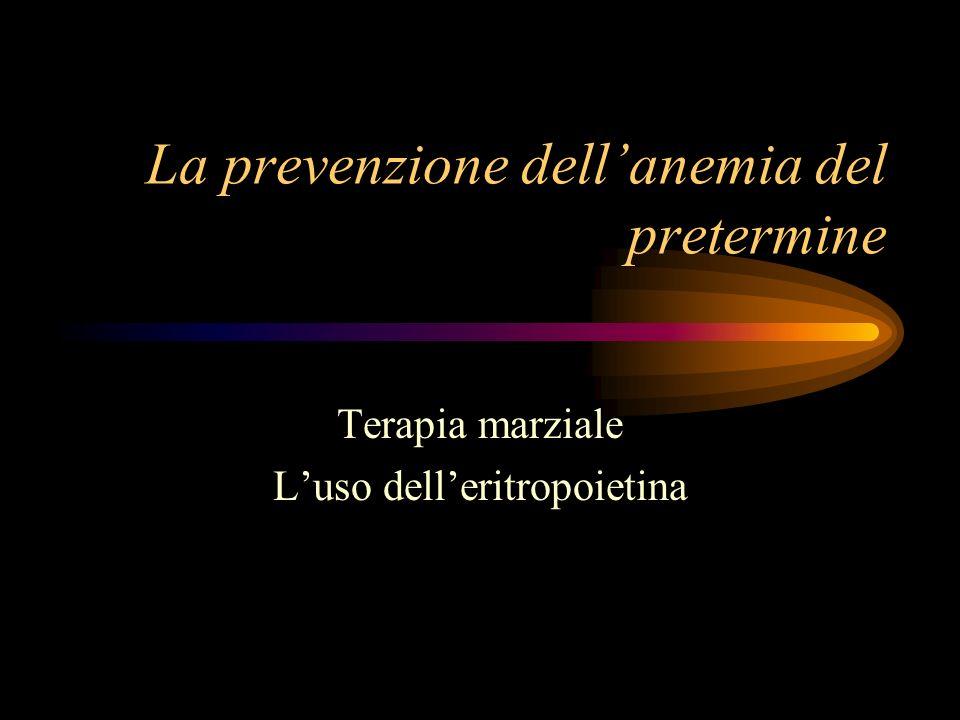 La prevenzione dell'anemia del pretermine