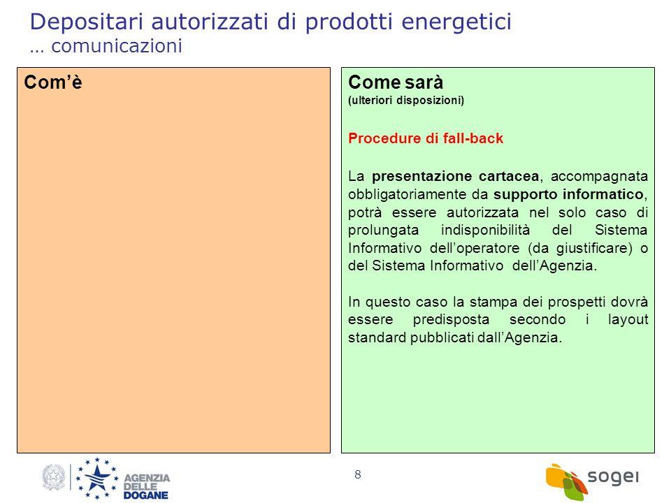 Depositari autorizzati di prodotti energetici … comunicazioni