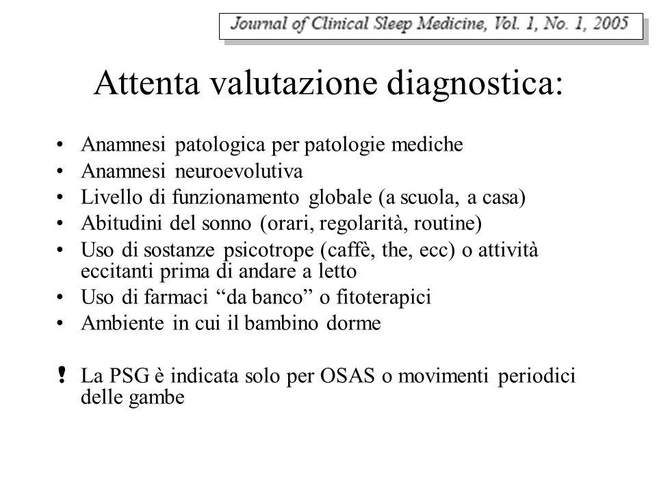 Attenta valutazione diagnostica: