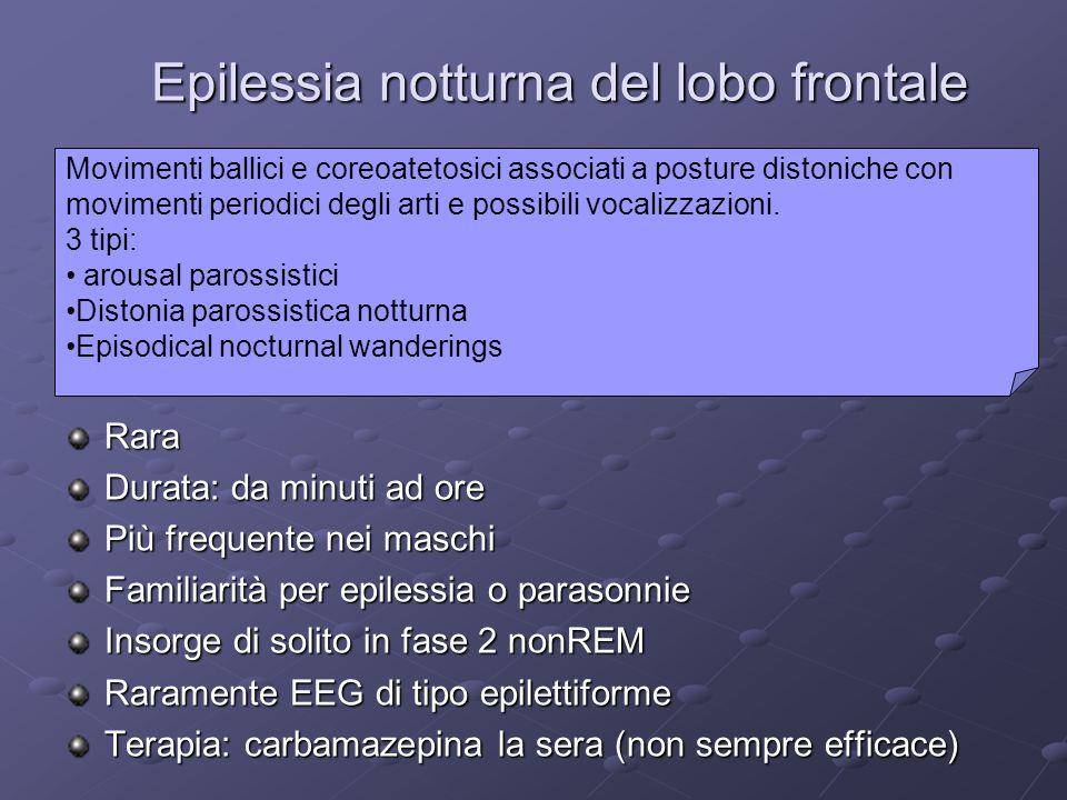 Epilessia notturna del lobo frontale