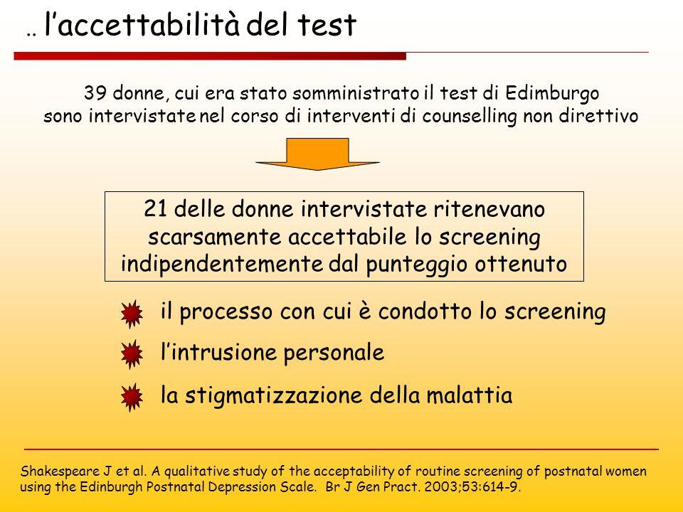 .. l'accettabilità del test