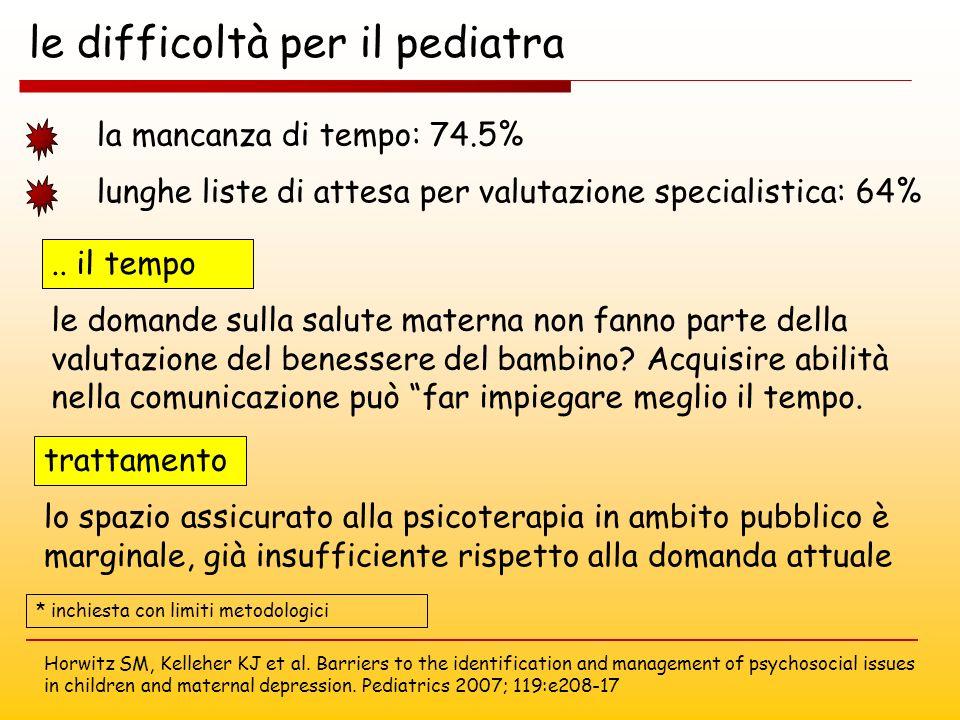 le difficoltà per il pediatra