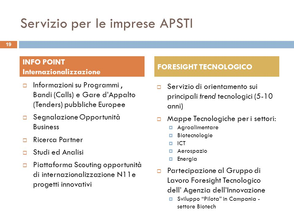 Servizio per le imprese APSTI