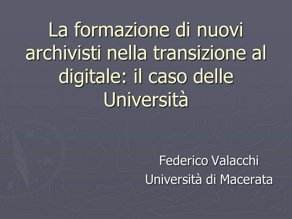 Federico Valacchi Università di Macerata