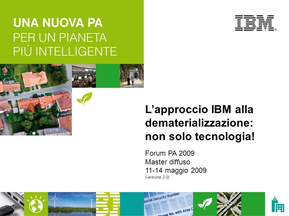 L'approccio IBM alla dematerializzazione: non solo tecnologia!