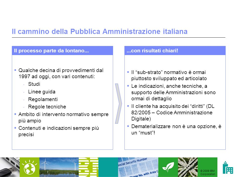 Il cammino della Pubblica Amministrazione italiana