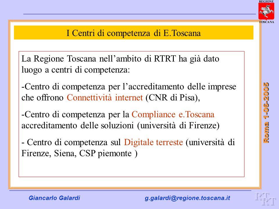 I Centri di competenza di E.Toscana