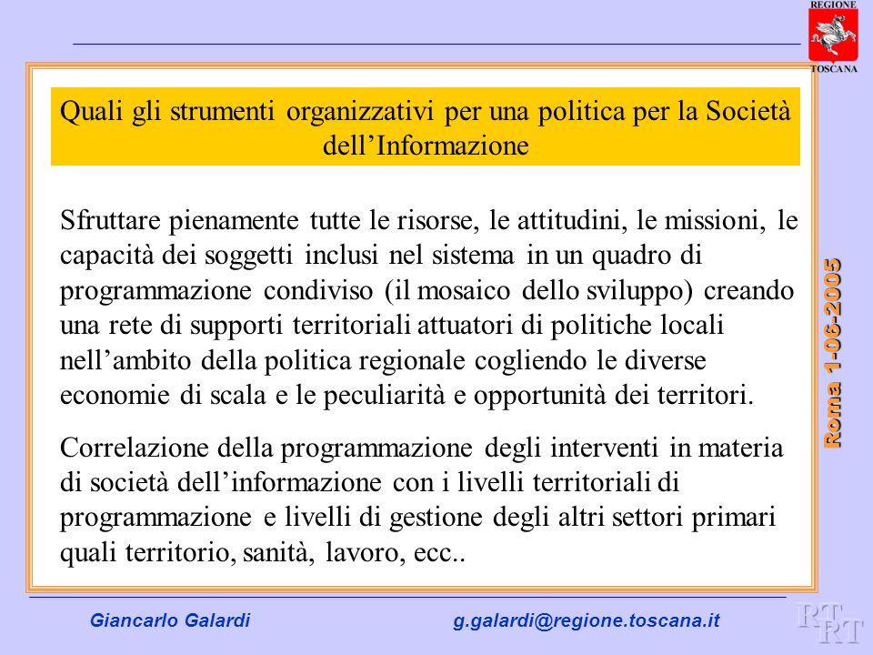Quali gli strumenti organizzativi per una politica per la Società dell'Informazione