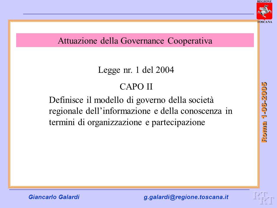 Attuazione della Governance Cooperativa