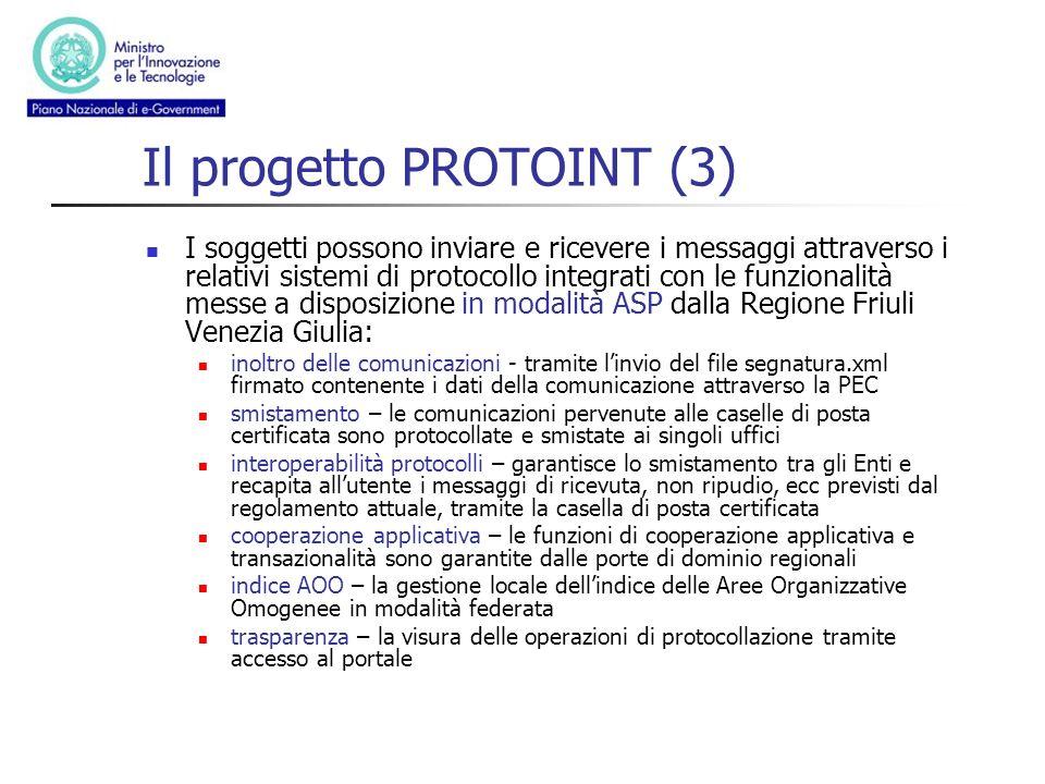 Il progetto PROTOINT (3)