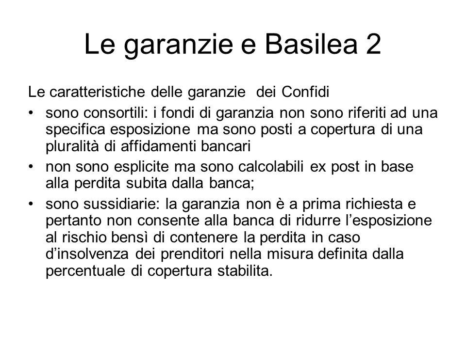 Le garanzie e Basilea 2 Le caratteristiche delle garanzie dei Confidi