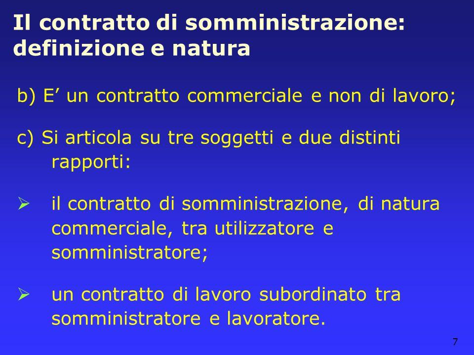 Il contratto di somministrazione: definizione e natura