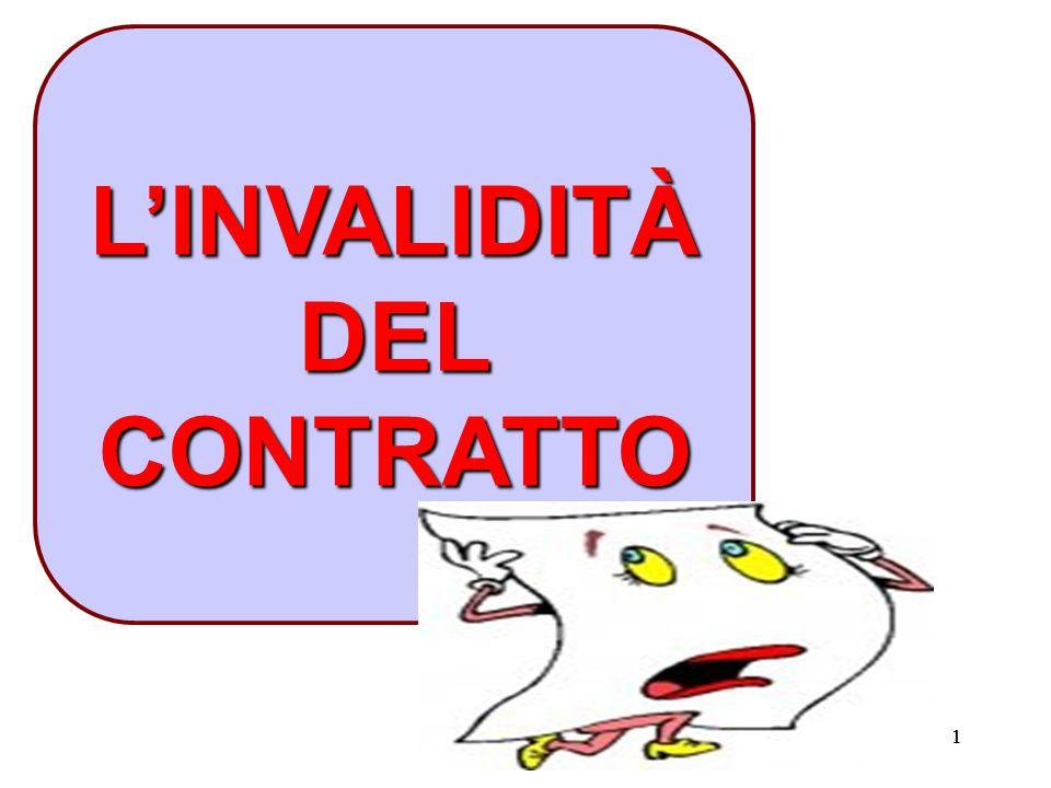 L'INVALIDITÀ DEL CONTRATTO