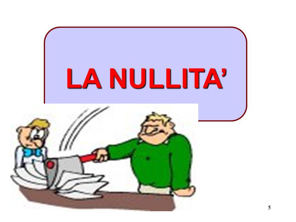 LA NULLITA' 5 5