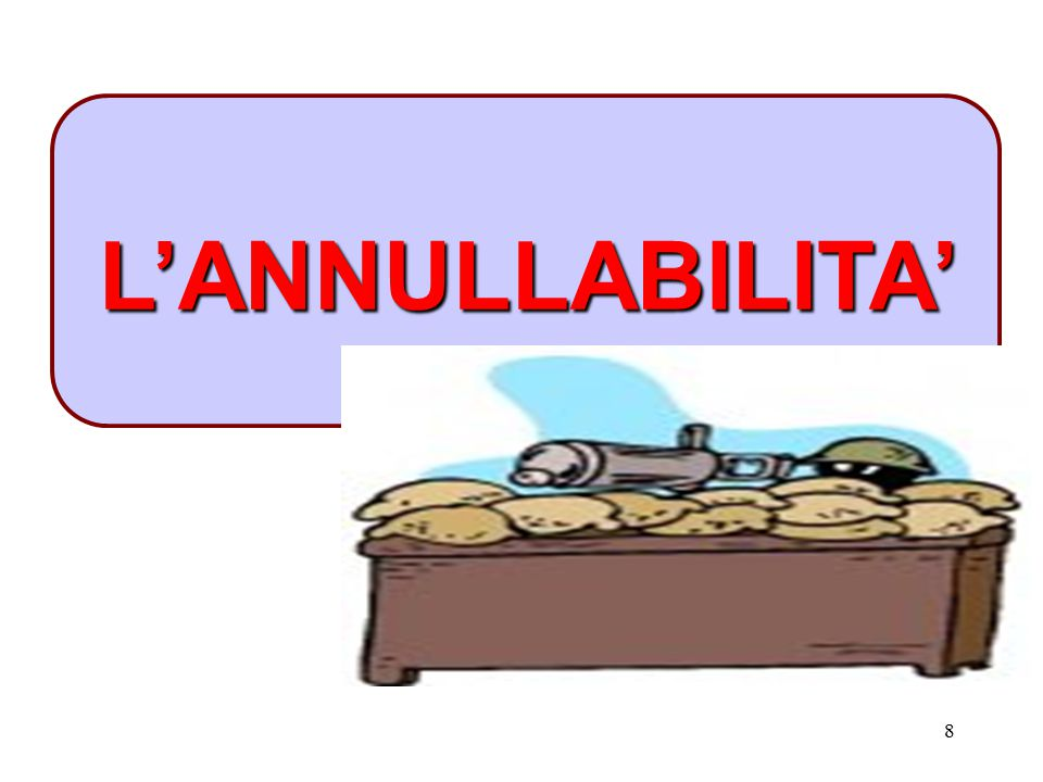 L'ANNULLABILITA'
