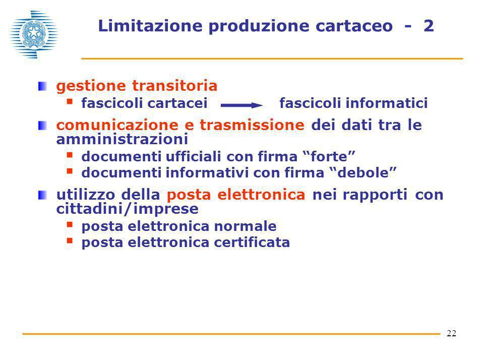Limitazione produzione cartaceo - 2