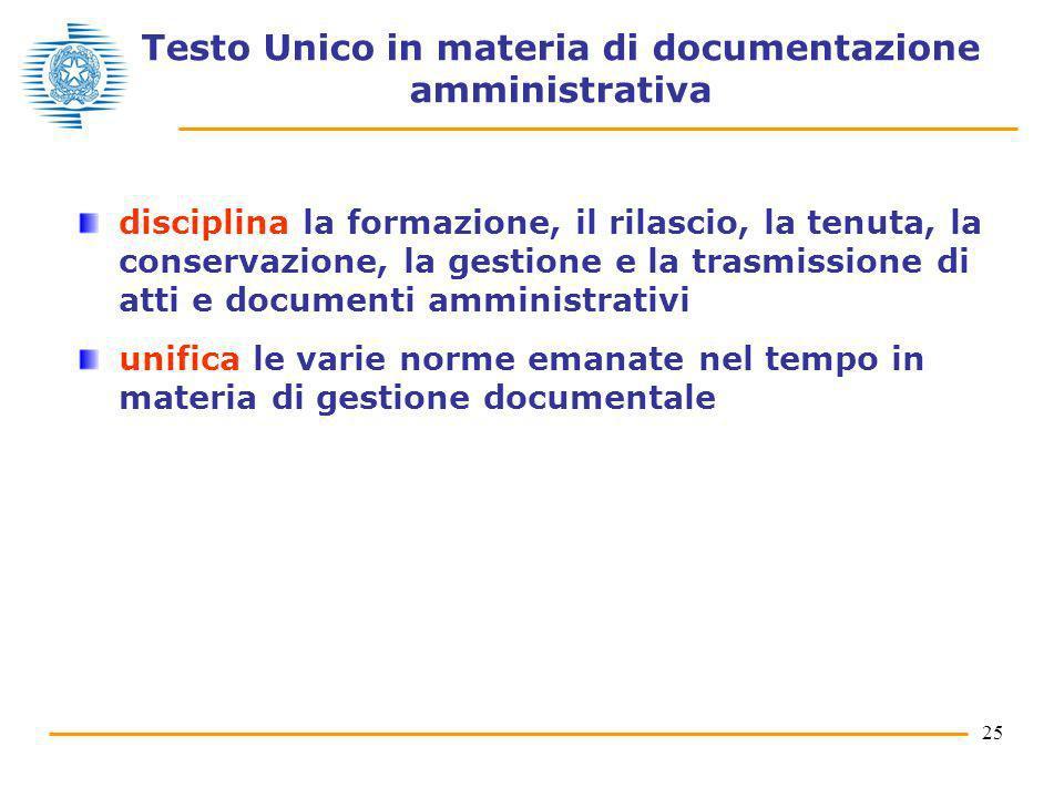 Testo Unico in materia di documentazione amministrativa