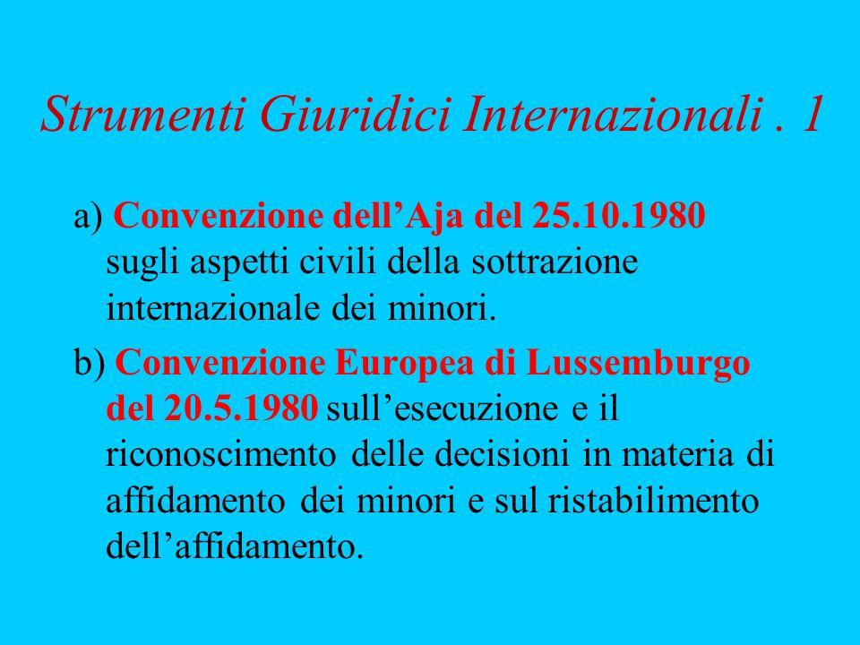 Strumenti Giuridici Internazionali . 1