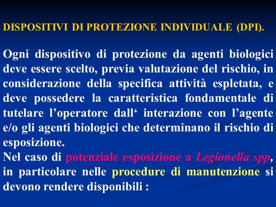 DISPOSITIVI DI PROTEZIONE INDIVIDUALE (DPI).